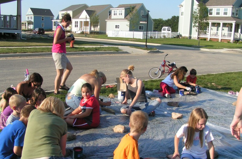 children's party at the village in burns harbor